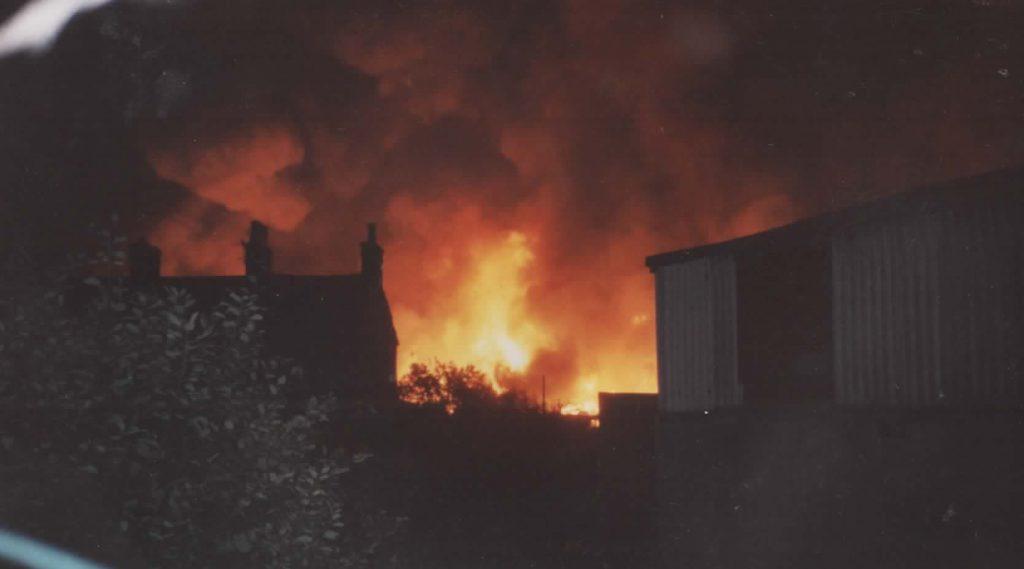 Arson attack destroys Factory